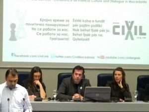 Vane Cvetanov, VMRO-NP speaks at Civil's conference