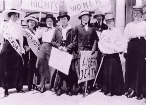 Ladies in Washington campaign for women's rights