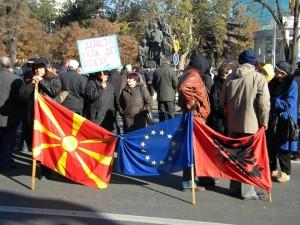Протест на сттечајните работници (ФОТО: Стефан Урџановски)