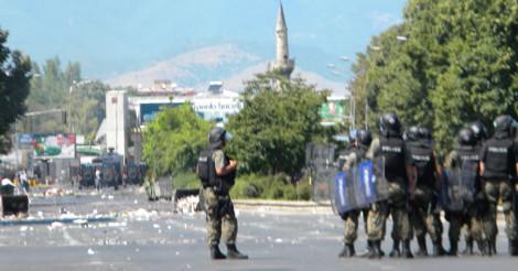 """Полицијата на протестите по повод пресудите во случајот """"Монструм"""""""