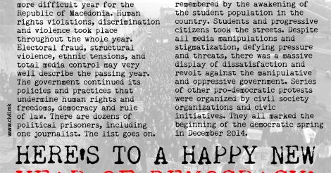HAPPY NEW YEAR FOR DEMOCRACY! (2015)