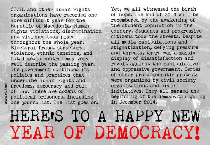 HAPPY NEW YEAR FOR DEMOCRACY! (2015)