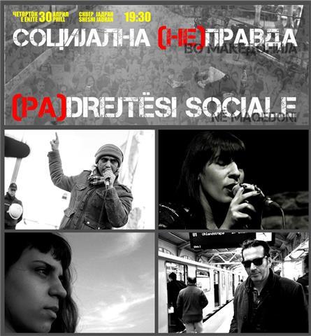 socijalna nepravda mini plakat (S)