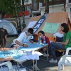 Камперска поддршка за притворените студенти