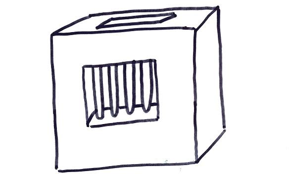 ballot box - bars - C